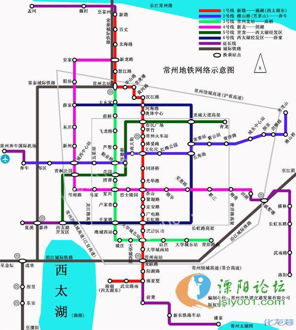 共规划了6条轨道交通线路    常州地铁2012年获批,1号线2013年配套