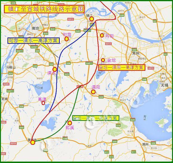 镇江至秦皇岛铁路地图