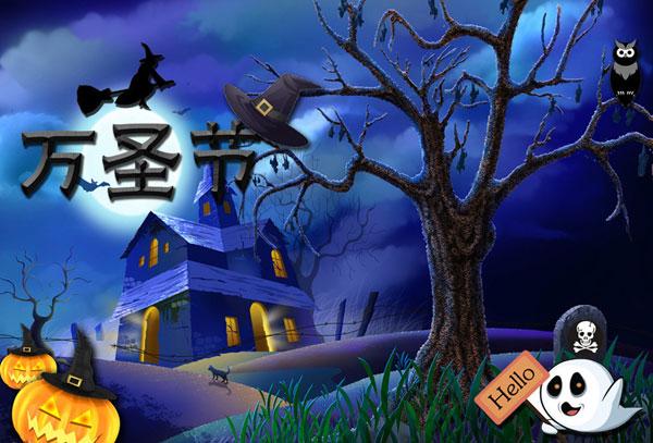"""方国家,每年的10月31日为""""万圣节之夜"""".-疯狂在十月,欢乐万"""