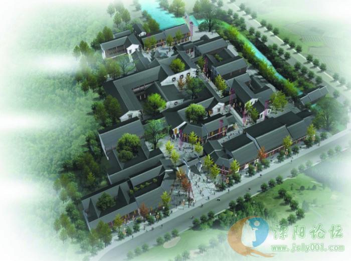 南山竹海风景区入口处,总用地面积12990平方米,规划总建筑面积15136