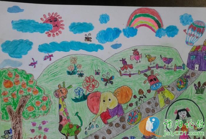一年级美术画画图片动物园