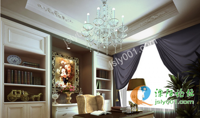 美式风格 别墅室内设计效果图