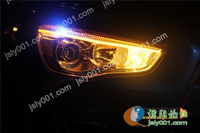三菱系列改灯 三菱劲炫升级氙气灯 加装水晶泪眼 光导天使眼