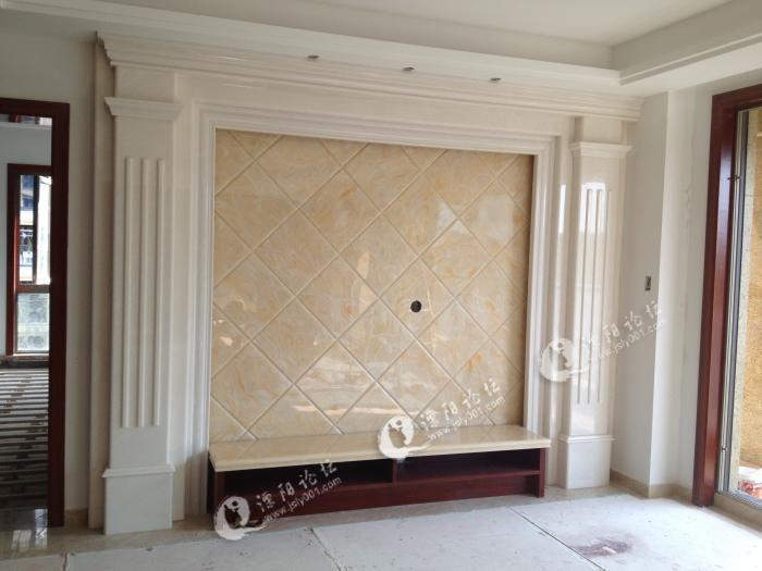 专业定制石材电视背景墙,过道及门窗套