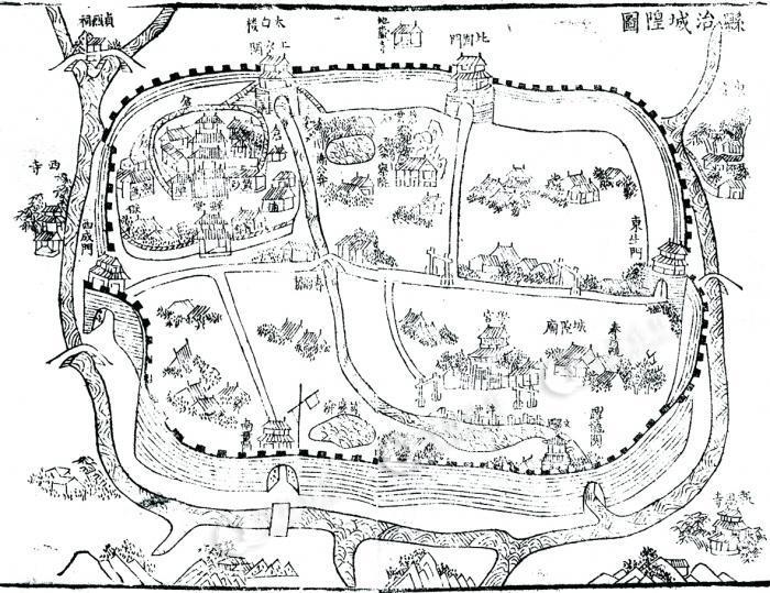 太湖石石手绘图